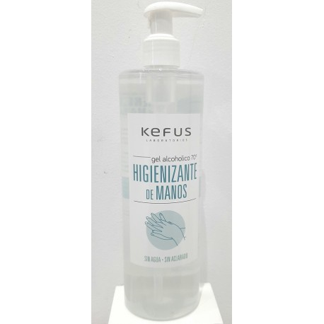 KEFUS GEL HIDROALCOHOLICO MANOS 500 ML
